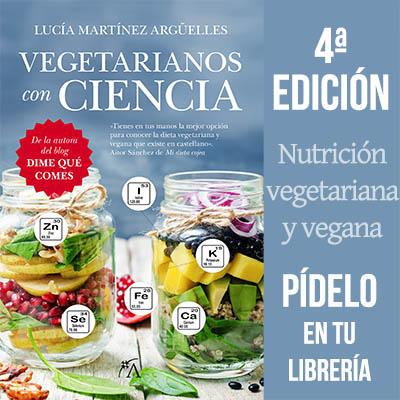 Vegetarianos con Ciencia, nuevo libro de Lucía Martínez