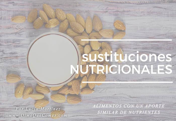 Sustitución gastronónica versus sustitución nutricional